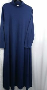 Stretch Jersey Mock Neck Maxi Dress Modest 2XL